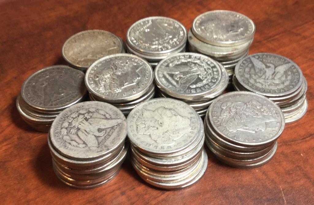 Lot of (100) Morgan Silver Dollars Random Dates