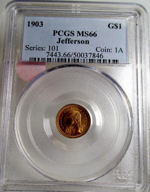 1903 MS 66 PCGS Jefferson Gold $ 1 Series 101