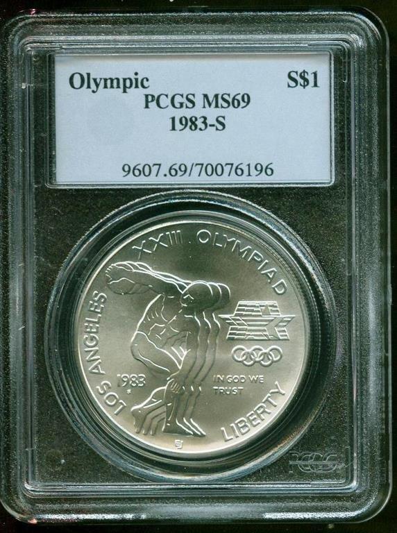 1983 S Olympics PCGS MS 69