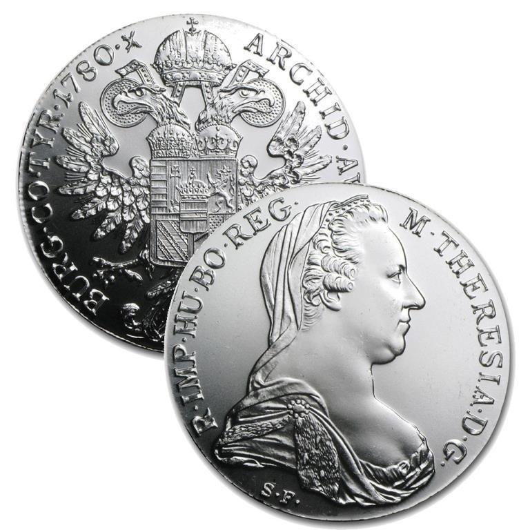 1780 Silver THAYER Restrike 1 oz Silver