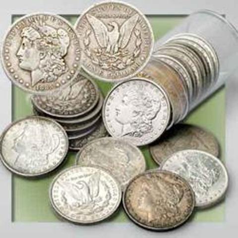 40 pcs. VG-F Grade Morgan Dollars Mixed Dates