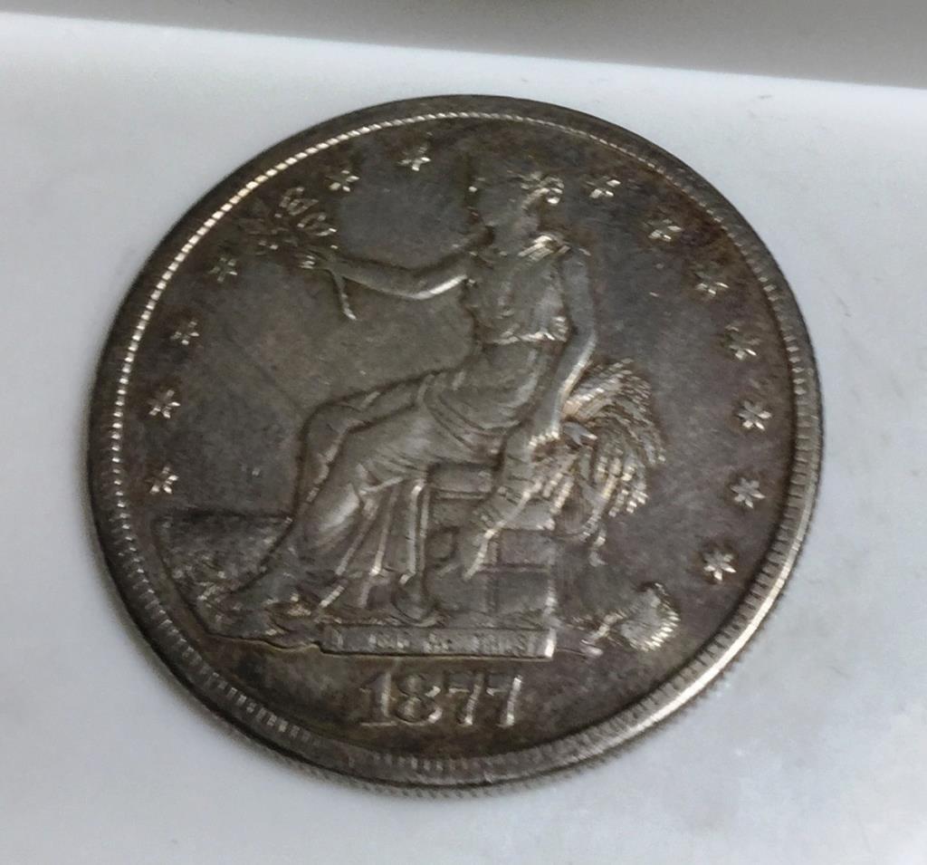 1877 S RARE XF AU Key Date Trade Dollar