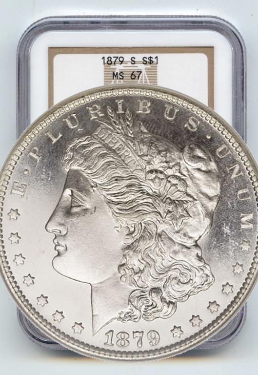 1879 s MS 67 NGC Morgan Dollar