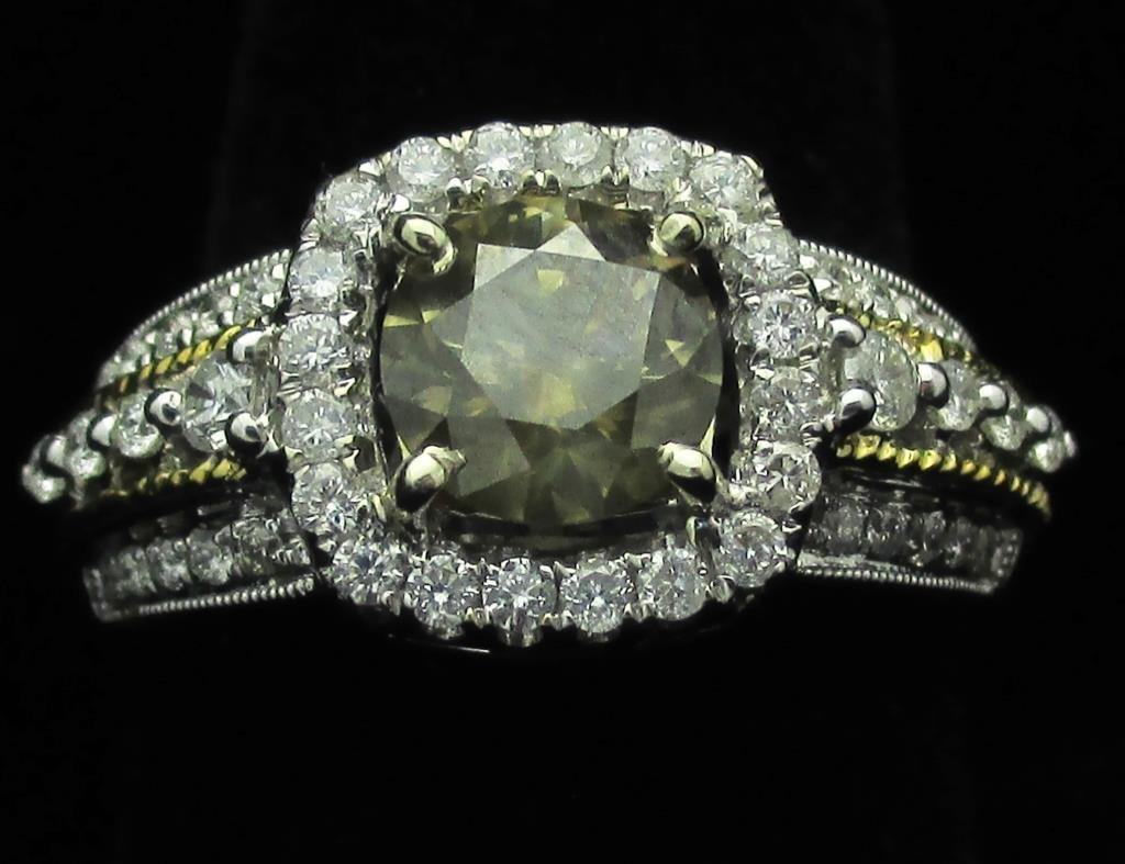 $15,315 GG GIA APP. Fancy Brown DIamond Ring