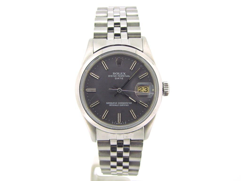 Mens Rolex Date Stainless Steel