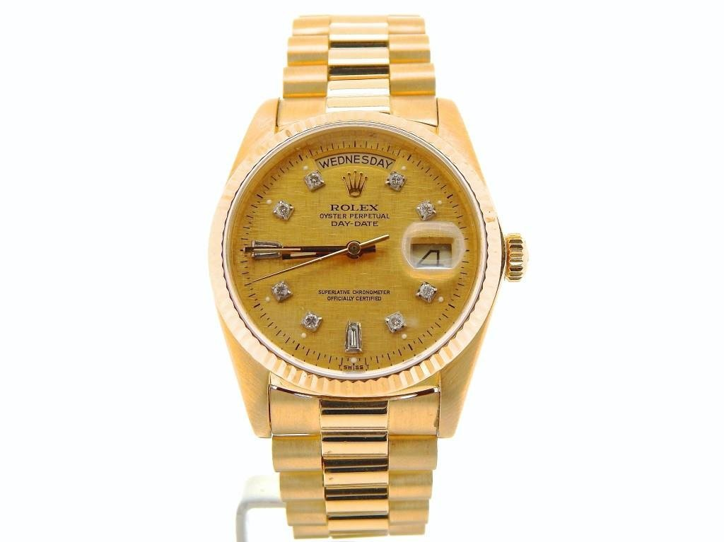 Mens Rolex 18k Yellow Gold