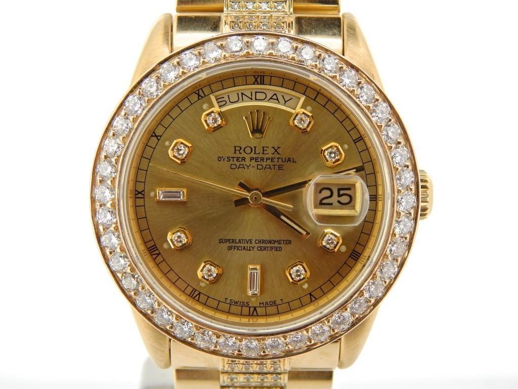Mens Rolex 18k Gold Day-Date