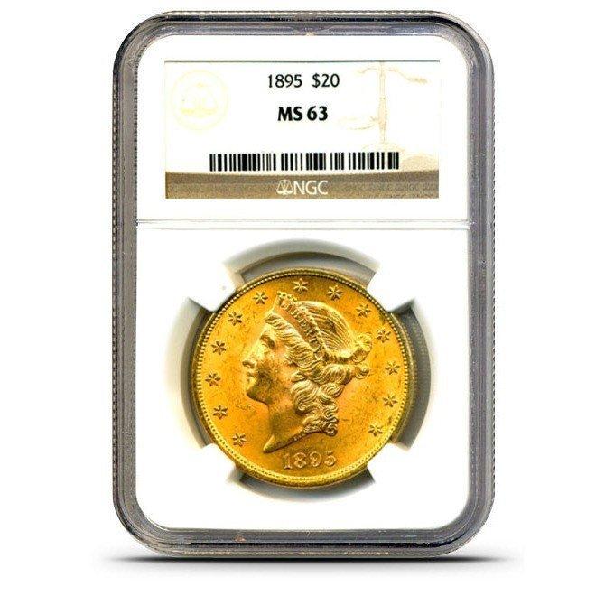 1895 MS 63 NGC $20 Liberty Gold Coin
