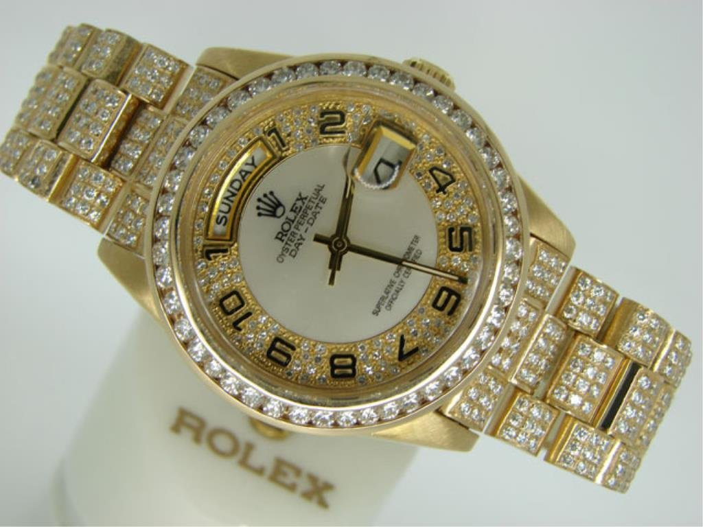 11.75 cts DIAMONDS Man's Presidential ROLEX $150K