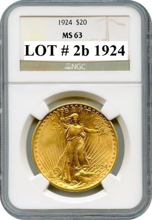 1924 MS 3 NGC Grade Saint Gauden's Gold