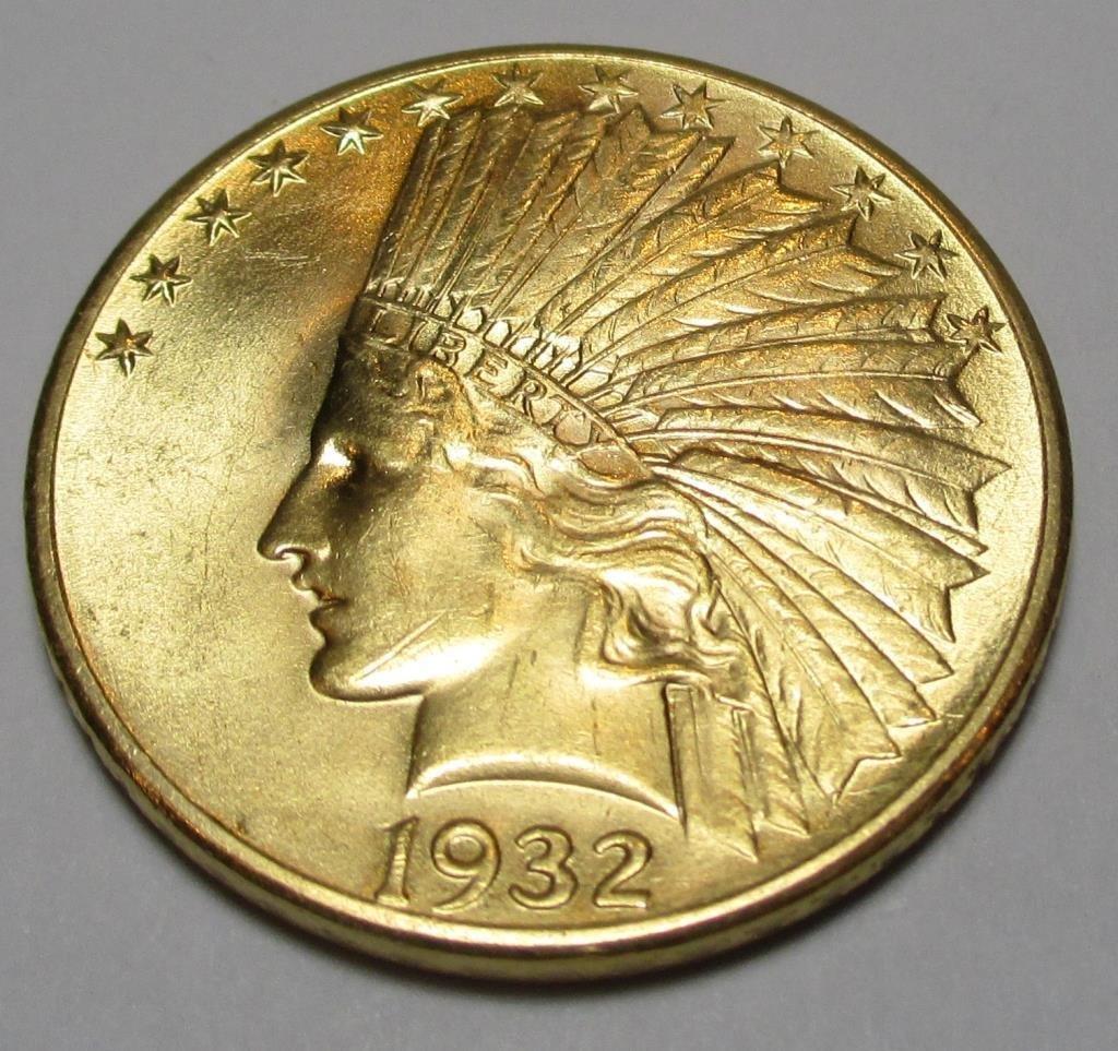 1932 CH BU HIGH GRADE $ 10 Gold Indian
