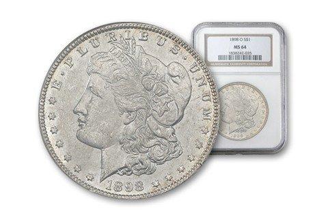 1898-O Morgan Silver Dollar PCGS MS64