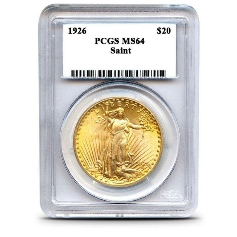 1926 MS 64 $ 20 Gold Saint Gauden's PCGS