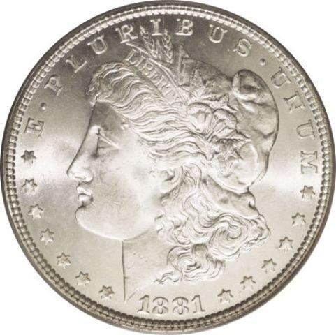 1881 S BU Morgan Dollar