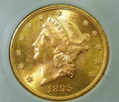 1895  $ 20 Gold Liberty