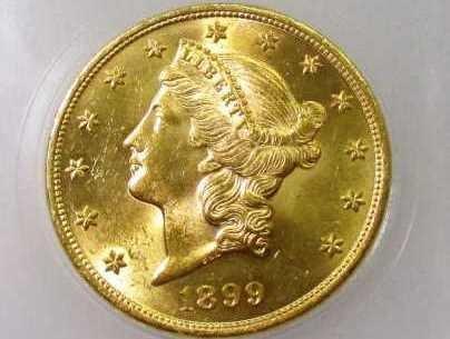 1899  $ 20 Gold Liberty