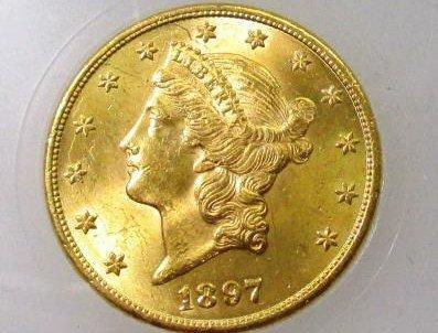 1897  $ 20 Gold Liberty