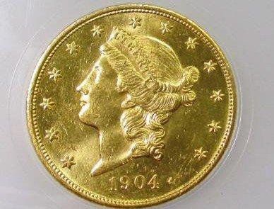 1904 $ 20 Gold Liberty