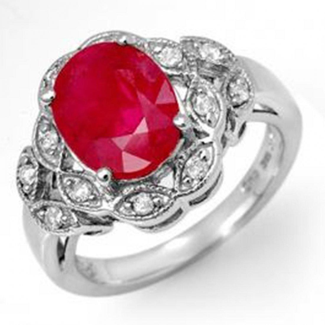 3.5 ctw Ruby & Diamond Ring