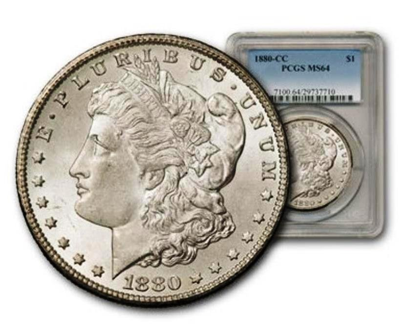 1880 CC MS 64 PCGS Morgan Silver Dollar