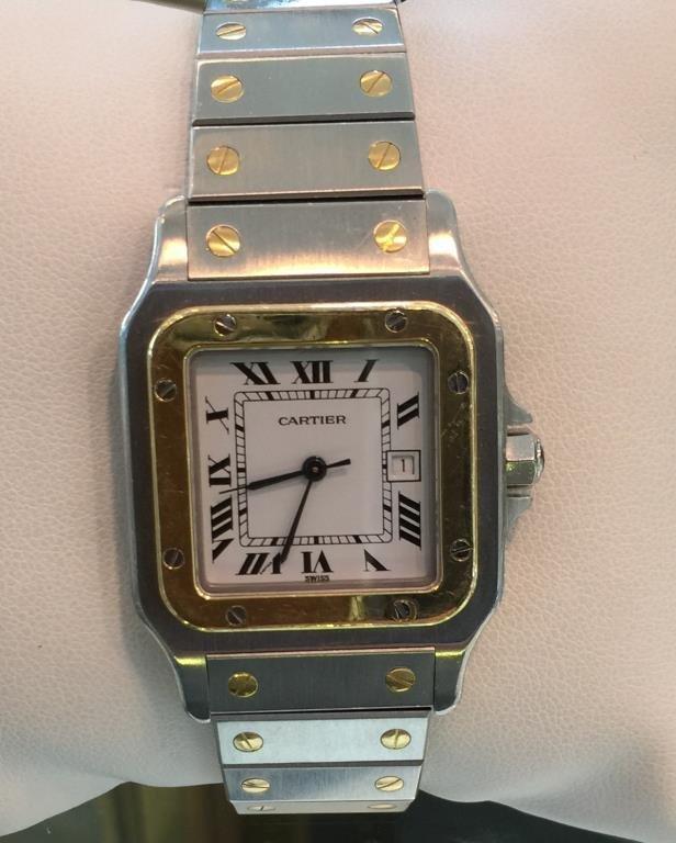 "18k WG / SS Cartier ""Santos"" Wristwatch"
