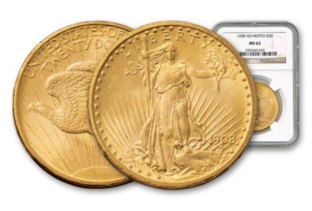 1908 NM MS 63 NGC $ 20 Saint Gauden's