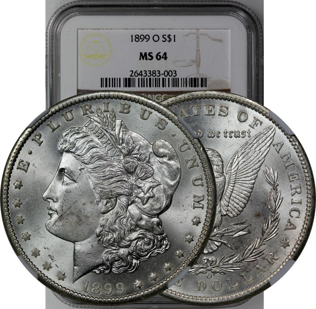 1899 O MS64 NGC Morgan Silver Dollar
