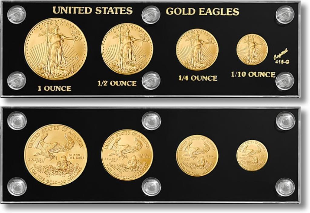 Random Years US Gold Eagle Complete Set
