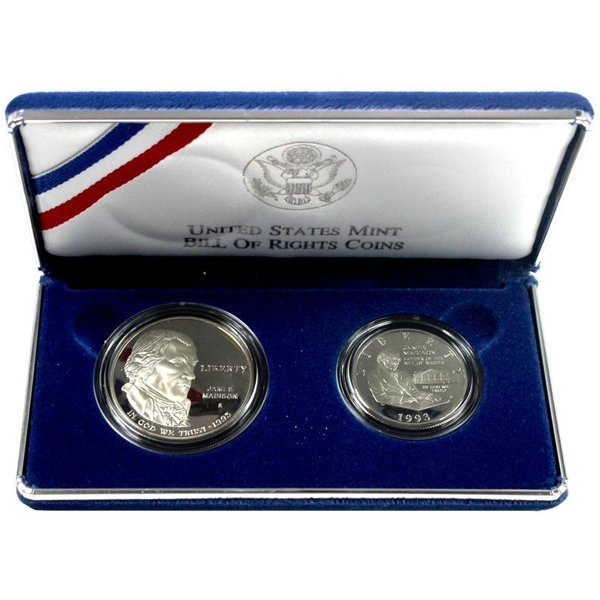 1993 James Madison 2 coin Proof Set