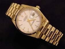 18k YG Rolex Presidential Mans Watch Oyster