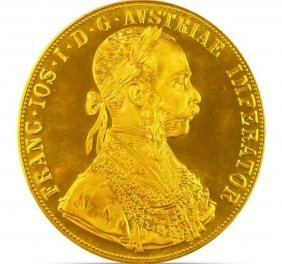 1915 Austrian 4 Ducat Proof Gold Coin