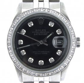 Rolex Stainless Steel Datejust 1 Carat Diamonds