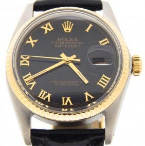 Mens Rolex 2tone 18k Gold/stainless Steel Datejust