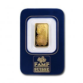 2.5 Gram Pamp Suisse Gold Ingot On Card
