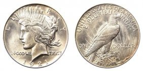 High Grade 1921 Key Date Peace Dollar