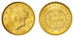 1853 $ 1 Gold Liberty Type I - High Grade