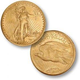 1914 S $ 20 Gold Saint Gauden's Double Eagle