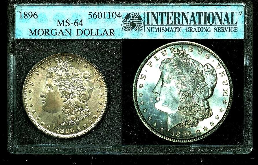 1896 MS 64 ING Slab Morgan Dollar