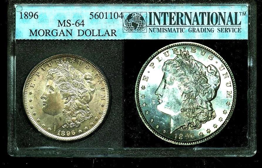 1896 MS 64 ING Slab Morgan Dollar
