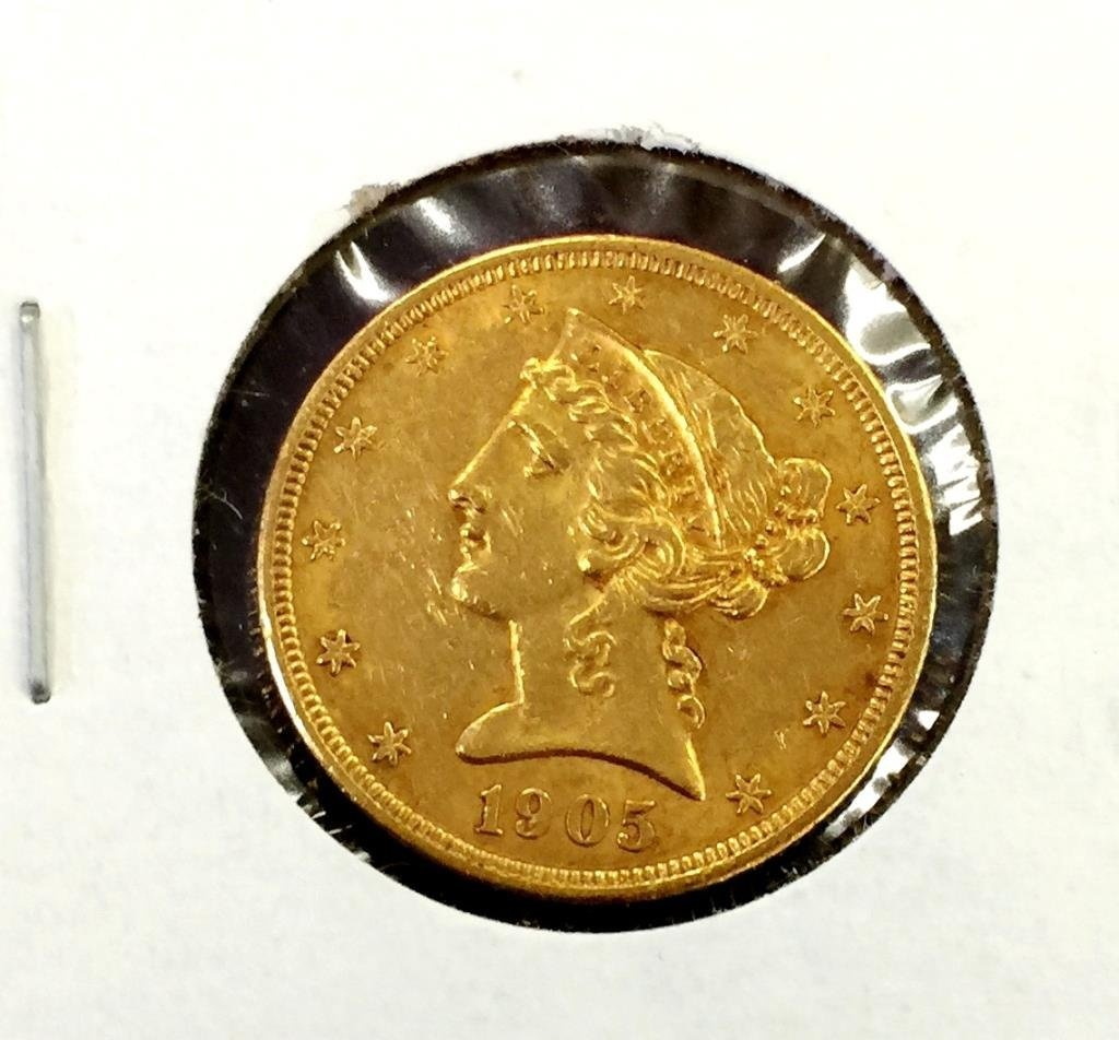 1905 $ 5 Gold Liberty