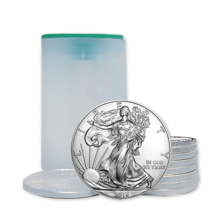 (20) US Silver Eagles - Mint Tube-Random