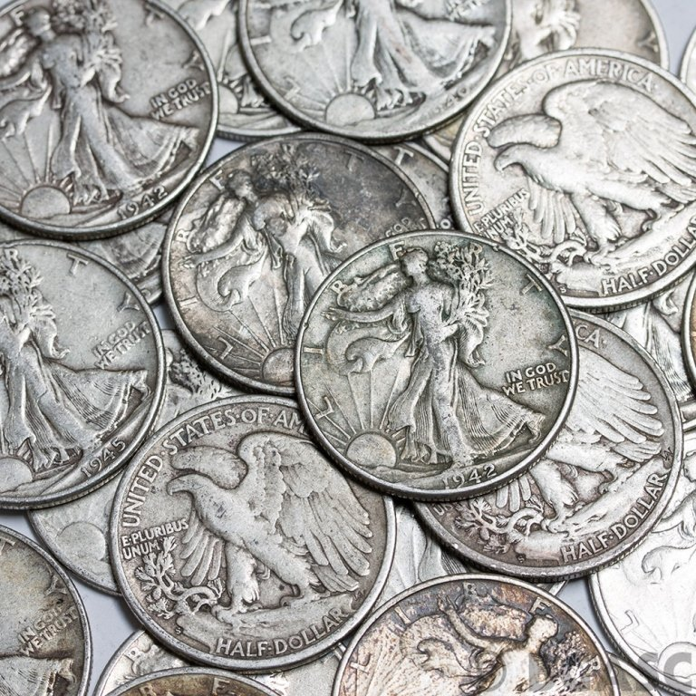 Lot of (50) Walking Liberty Half Dollars - Mixed