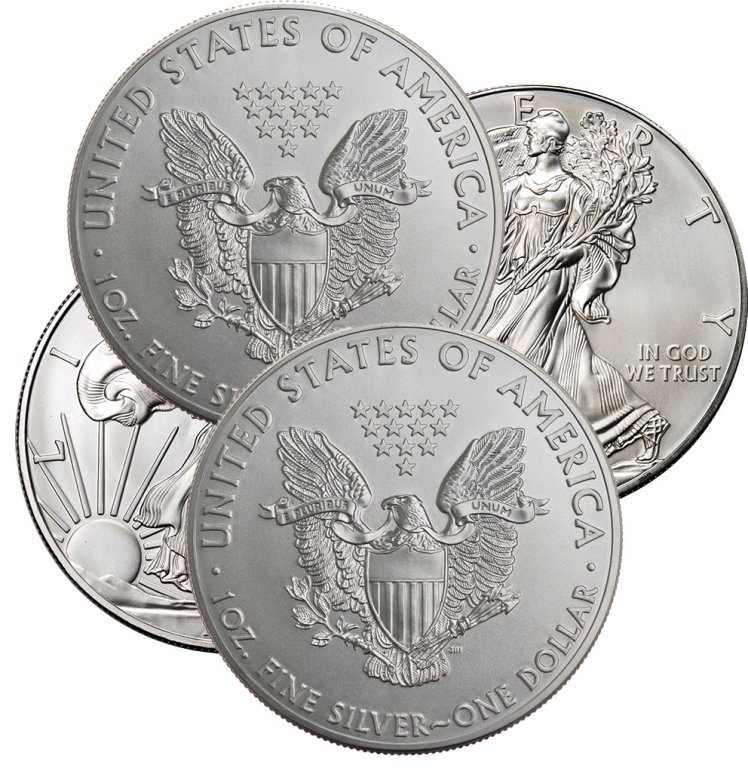 (4) Random Date US Silver Eagles