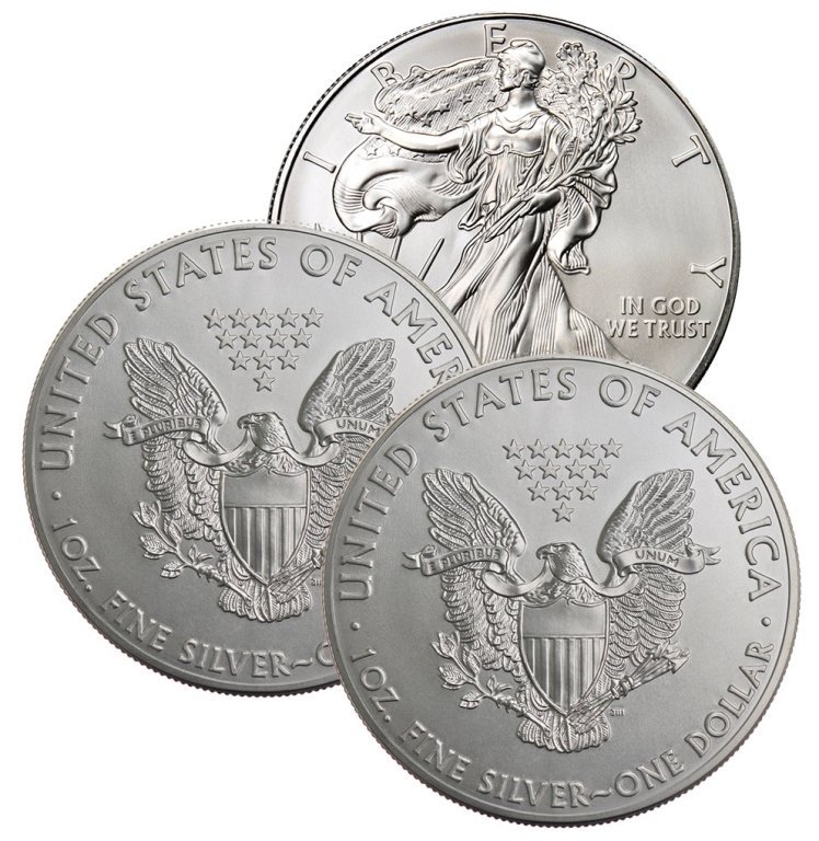 Lot of (3) Random Date  US Silver Eagles