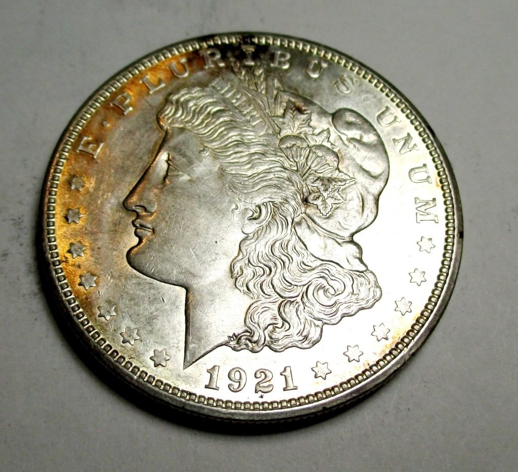 1921 D BU Morgan Silver Dollar