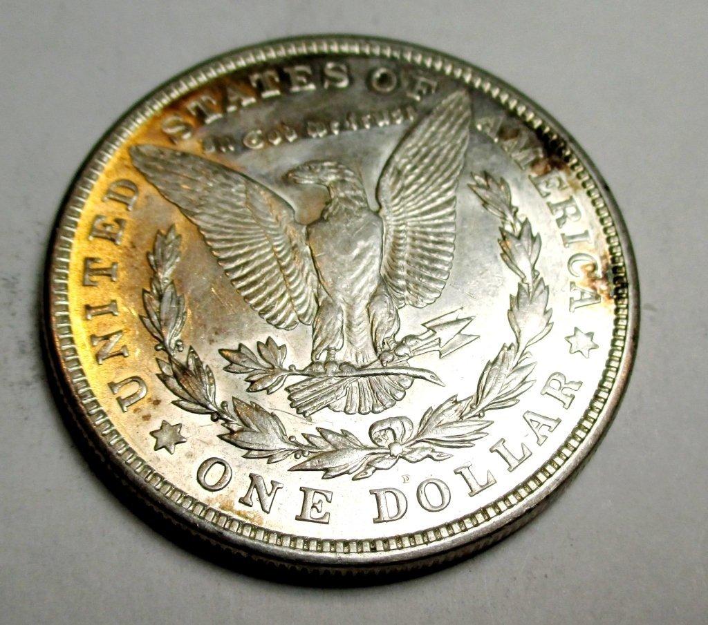 1921 D BU Morgan Silver Dollar - 2
