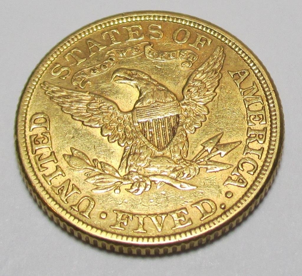 1881 $ 5 Gold Liberty Half Eagle Coin - 2