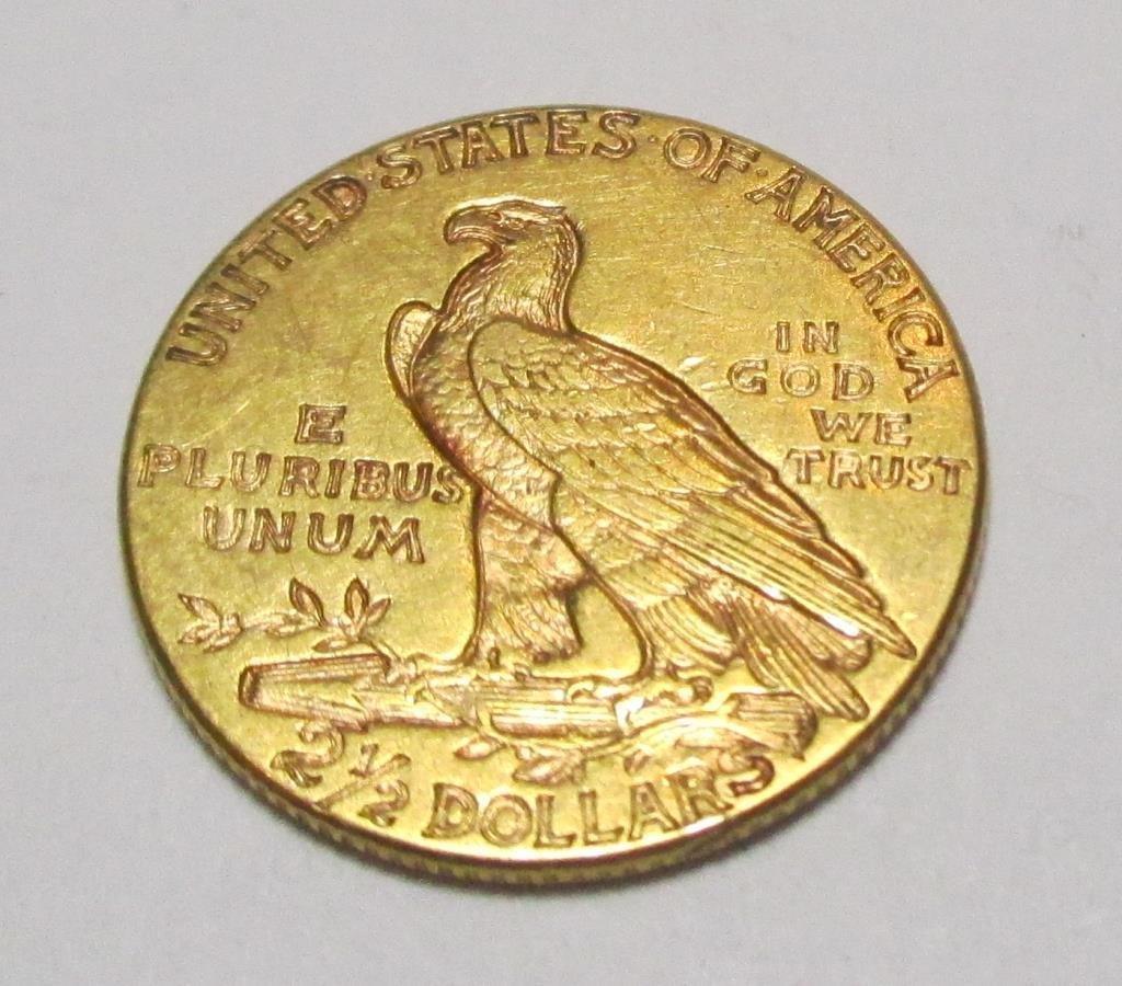 1915 $ 2.5 Gold Indian UNC Quarter Eagle - 2