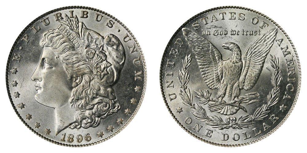 1896 P BU Morgan Silver Dollar