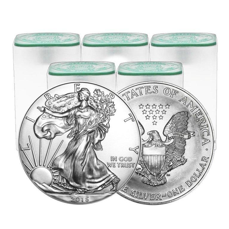 (100) Random Date US Silver Eagles